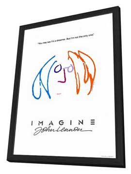 Imagine John Lennon - 27 x 40 Movie Poster - Style A - in Deluxe Wood Frame