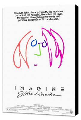 Imagine John Lennon - 11 x 17 Movie Poster - Style A - Museum Wrapped Canvas
