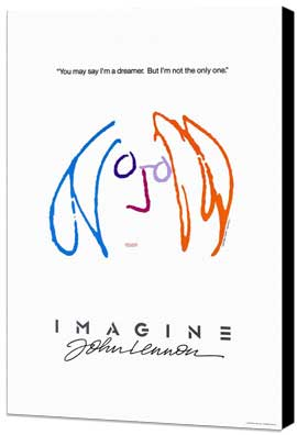 Imagine John Lennon - 11 x 17 Movie Poster - Style B - Museum Wrapped Canvas