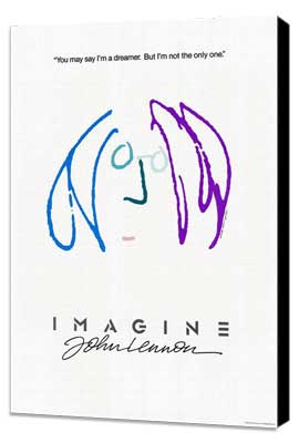 Imagine John Lennon - 27 x 40 Movie Poster - Style D - Museum Wrapped Canvas