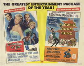Imitation of Life / Flower Drum Song - 22 x 28 Movie Poster - Half Sheet Style A