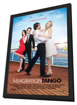 Immigration Tango - 11 x 17 Movie Poster - Style B - in Deluxe Wood Frame