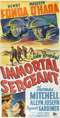 Immortal Sergeant - 20 x 40 Movie Poster - Style A