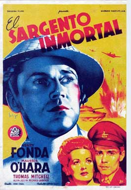 Immortal Sergeant - 11 x 17 Movie Poster - Spanish Style A
