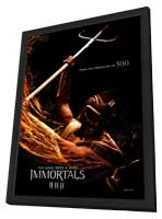 Immortals - 11 x 17 Movie Poster - Style E - in Deluxe Wood Frame