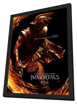 Immortals - 27 x 40 Movie Poster - Style B - in Deluxe Wood Frame