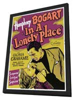 In a Lonely Place - 11 x 17 Movie Poster - Style G - in Deluxe Wood Frame
