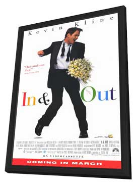 In and Out - 11 x 17 Movie Poster - Style A - in Deluxe Wood Frame