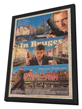 In Bruges - 11 x 17 Movie Poster - Style A - in Deluxe Wood Frame