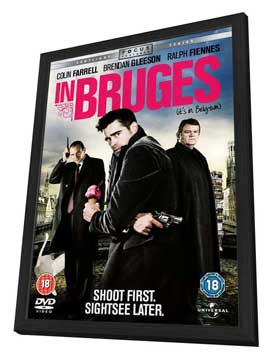 In Bruges - 30 x 40 Movie Poster UK - Style A - in Deluxe Wood Frame