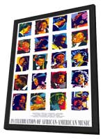 In Celebration of African-American Music - 11 x 17 Movie Poster - Style A - in Deluxe Wood Frame