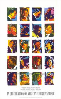 In Celebration of African-American Music - 43 x 62 Movie Poster - Bus Shelter Style A