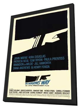 In Harm's Way - 11 x 17 Movie Poster - Style A - in Deluxe Wood Frame