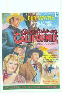 In Old California - 11 x 17 Movie Poster - Belgian Style A