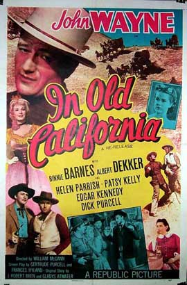 In Old California - 11 x 17 Movie Poster - Style B