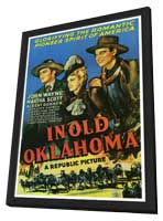 In Old Oklahoma - 27 x 40 Movie Poster - Style A - in Deluxe Wood Frame