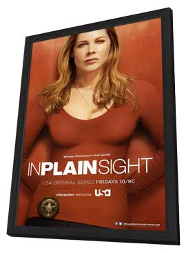 In Plain Sight (TV) - 11 x 17 TV Poster - Style F - in Deluxe Wood Frame