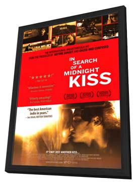 In Search of A Midnight Kiss - 11 x 17 Movie Poster - Style A - in Deluxe Wood Frame