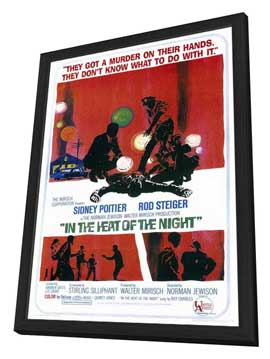 In the Heat of the Night - 11 x 17 Movie Poster - Style A - in Deluxe Wood Frame
