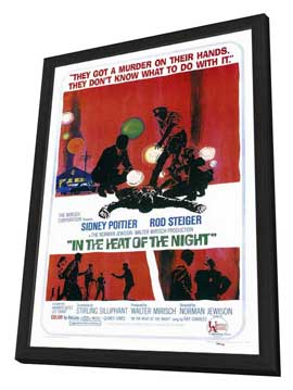 In the Heat of the Night - 27 x 40 Movie Poster - Style A - in Deluxe Wood Frame