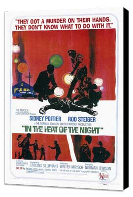 In the Heat of the Night - 27 x 40 Movie Poster - Style A - Museum Wrapped Canvas