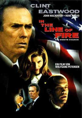 In the Line of Fire - 11 x 17 Movie Poster - German Style A