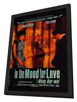 In the Mood for Love - 27 x 40 Movie Poster - French Style A - in Deluxe Wood Frame