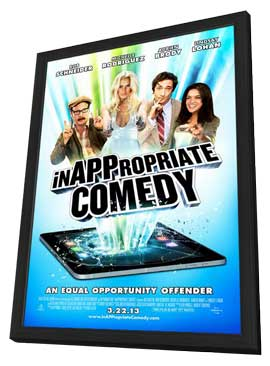 InAPPropiate Comedy - 27 x 40 Movie Poster - Style A - in Deluxe Wood Frame