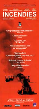 Incendies - 14 x 36 Movie Poster - French Style A