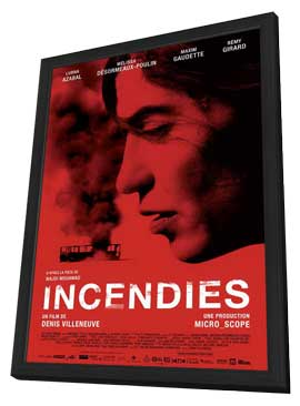 Incendies - 11 x 17 Movie Poster - Canadian Style A - in Deluxe Wood Frame