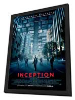 Inception - 27 x 40 Movie Poster - Style C - in Deluxe Wood Frame