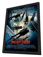Inception - 27 x 40 Movie Poster - Style D - in Deluxe Wood Frame