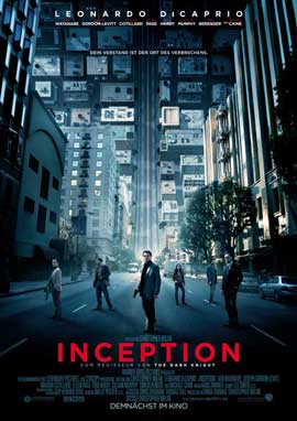 Inception - 11 x 17 Movie Poster - German Style A