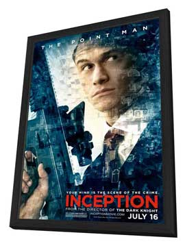 Inception - 11 x 17 Movie Poster - Style O - in Deluxe Wood Frame