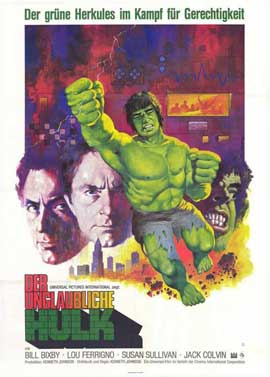The Incredible Hulk - 11 x 17 Movie Poster - German Style A