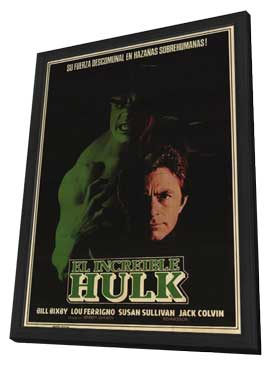 The Incredible Hulk - 11 x 17 Movie Poster - Argentine Style A - in Deluxe Wood Frame