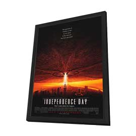 Independence Day - 27 x 40 Movie Poster - Style A - in Deluxe Wood Frame