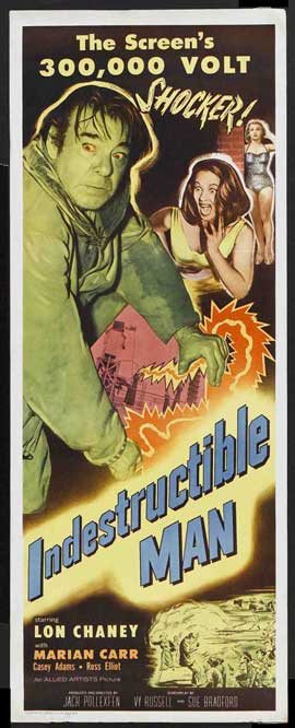 The Indestructible Man - 14 x 36 Movie Poster - Insert Style A