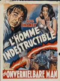 The Indestructible Man - 27 x 40 Movie Poster - Belgian Style A