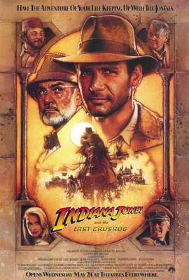 Indiana Jones and the Last Crusade - 27 x 40 Movie Poster - Style A