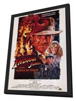 Indiana Jones and the Temple of Doom - 11 x 17 Movie Poster - Style A - in Deluxe Wood Frame