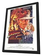 Indiana Jones and the Temple of Doom - 27 x 40 Movie Poster - Style A - in Deluxe Wood Frame