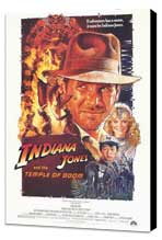 Indiana Jones and the Temple of Doom - 27 x 40 Movie Poster - Style A - Museum Wrapped Canvas