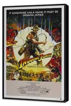 Indiana Jones and the Temple of Doom - 27 x 40 Movie Poster - Australian Style B - Museum Wrapped Canvas