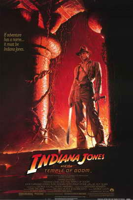 Indiana Jones and the Temple of Doom - 11 x 17 Movie Poster - Style B