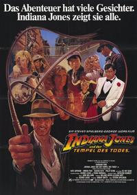 Indiana Jones and the Temple of Doom - 11 x 17 Movie Poster - German Style A