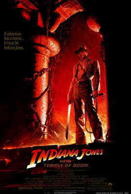 Indiana Jones and the Temple of Doom - 27 x 40 Movie Poster - Style B