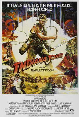 Indiana Jones and the Temple of Doom - 27 x 40 Movie Poster - Style E
