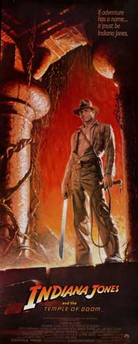 Indiana Jones and the Temple of Doom - 14 x 36 Movie Poster - Insert Style A