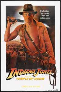 Indiana Jones and the Temple of Doom - 27 x 40 Movie Poster - Style J